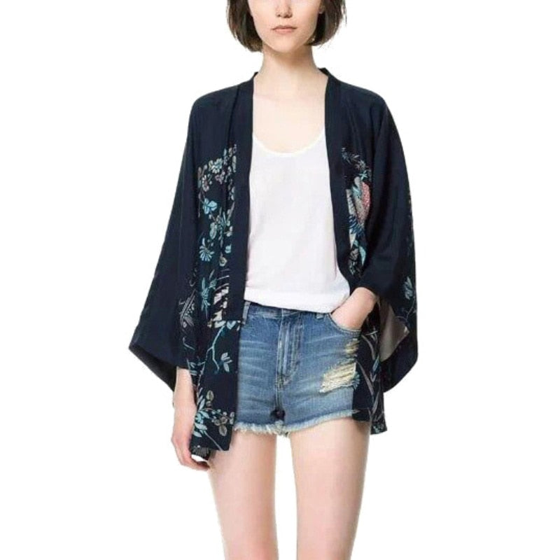 VINTAGE JAPANESE KIMONO INSPIRED BLOUSE (DIFFERENT SIZES AVAILABLE)