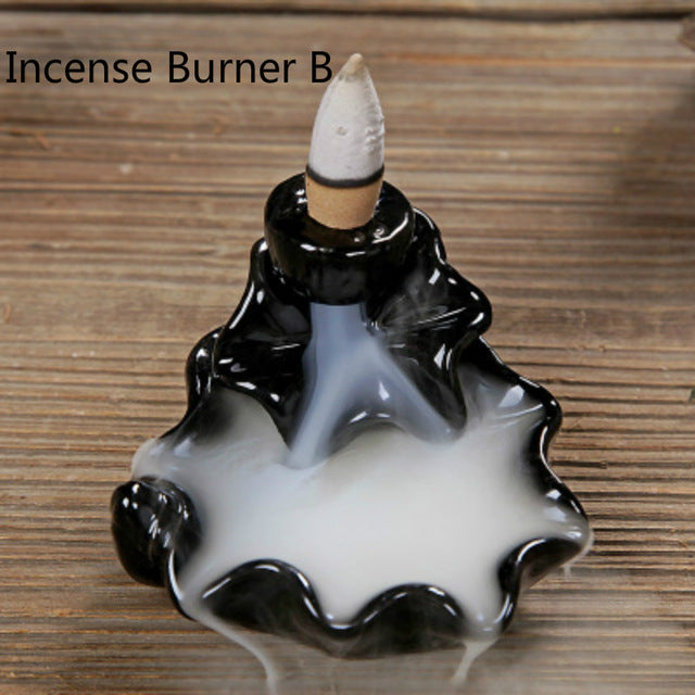 CERAMIC BACKFLOW INCENSE TOWER BASE