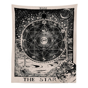 Tarot Tapestry Sun Star Moon Hippie Tapestry Wall Hangings Wall Blanket Pattern Yoga Mat Carpet On the wall vintage home decor