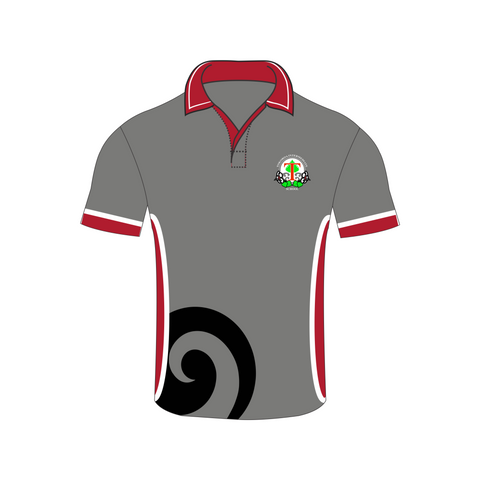 Tokoroa Intermediate Grey/White/Red Polo