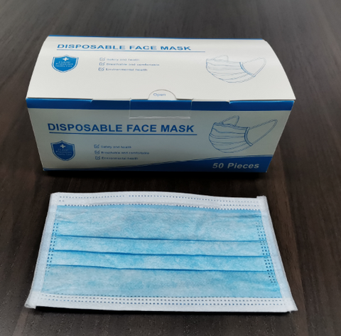 Disposable Facemasks 3 Ply -  Box of 50