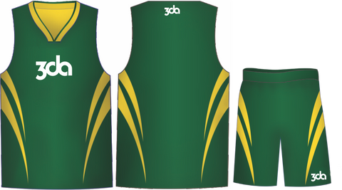 Sublimated Basketball Singlet/Short Set   EXTRA TALL