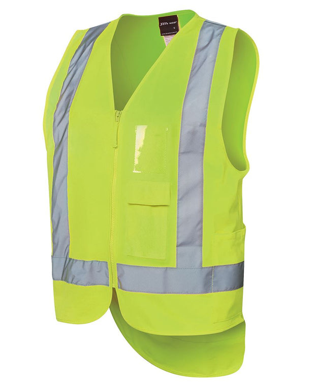 Hi Vis Zip Drop Tail H Pattern (D+N) Vest