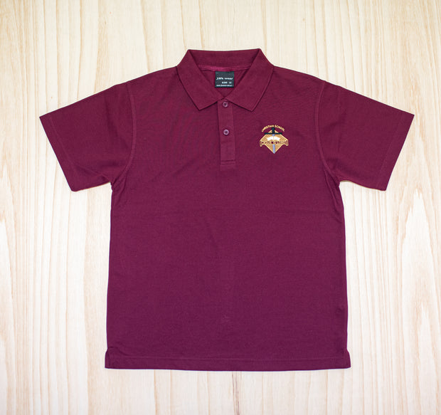 Kaikohe Christian School Burgandy Polo