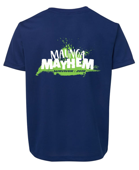 Maunga Mayhem Royal Kids Tee