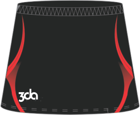 3DA Sublimated Netball Skort