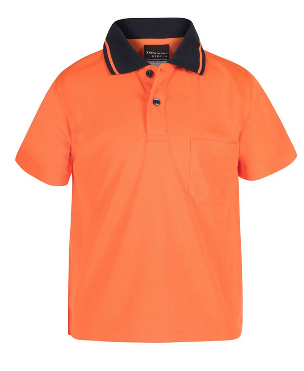 Infants & Kids Hi Vis Non Cuff Traditional Polo
