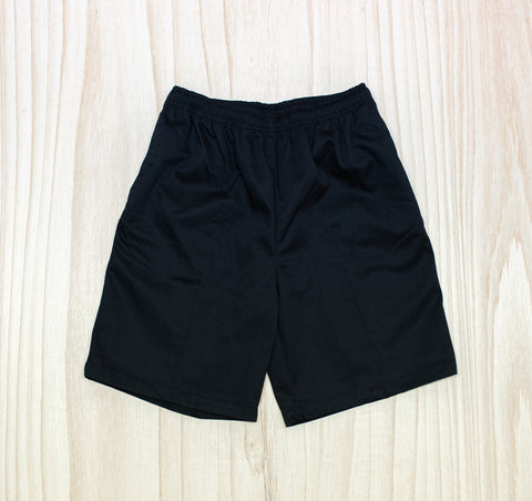 Tikipunga High Black Elastic Shorts