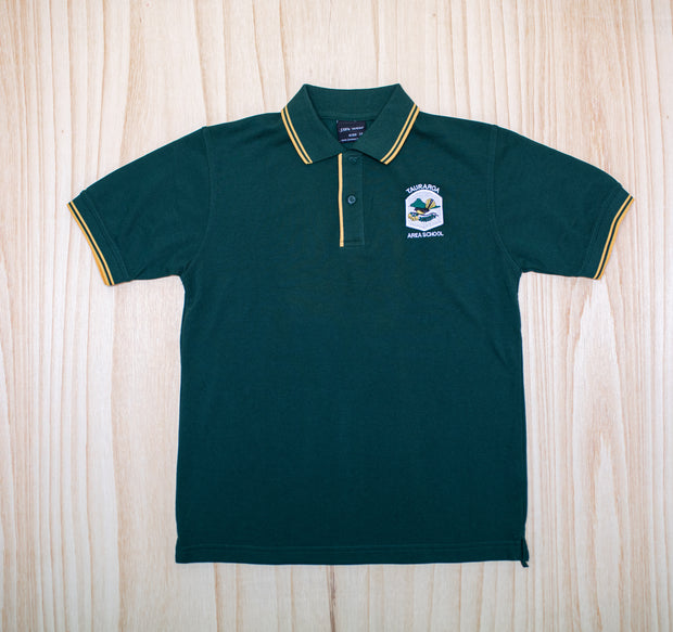 Tauraroa Area School Green Junior Polo