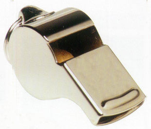 Wide metal whistle