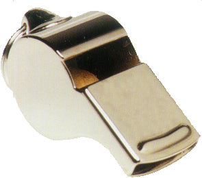 Narrow metal whistle
