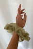 Oversized Big Organza Scrunchie // Khaki