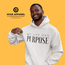 "Load image into Gallery viewer, ""My Life Has Purpose"" Hoodie in White"