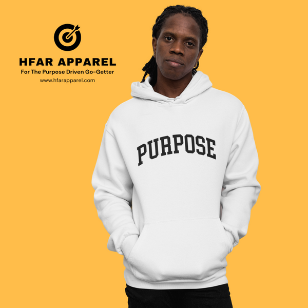 """Purpose"" Hoodie in White"