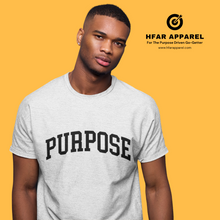 "Load image into Gallery viewer, ""Purpose"" Tee in White"