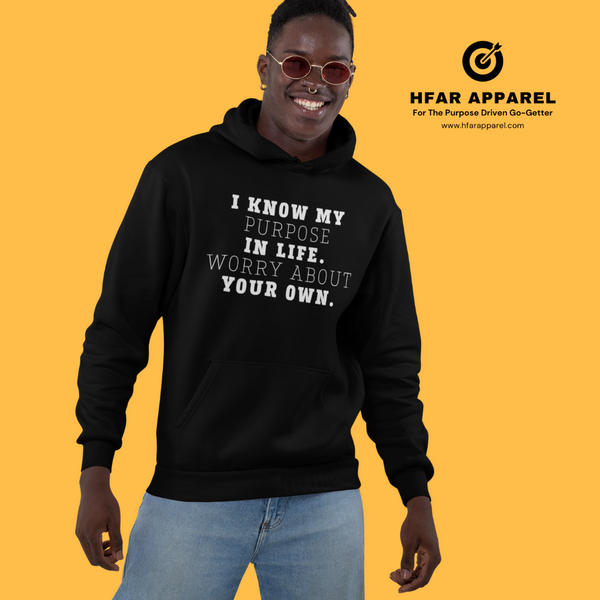 """Worry About Your Own"" Hoodie in Black"