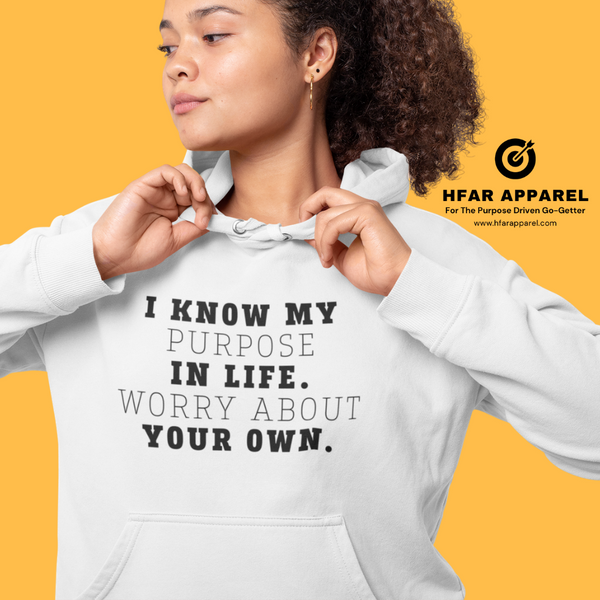 """Worry About Your Own"" Hoodie in White"