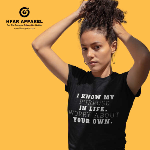 """Worry About Your Own"" Tee in Black"