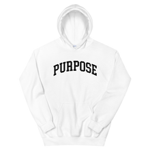 "Load image into Gallery viewer, ""Purpose"" Hoodie in White"