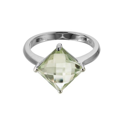 Green Amethyst In Sterling