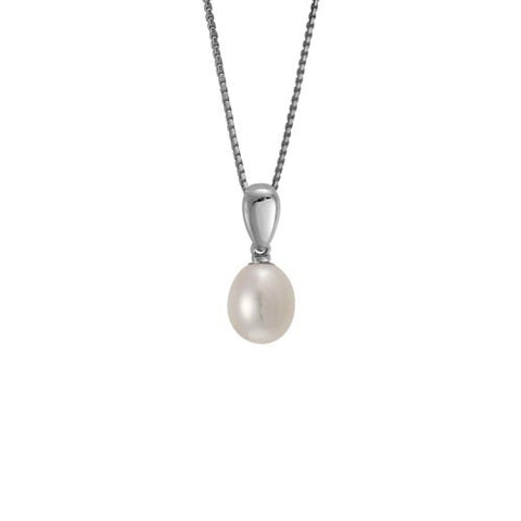 Pearl In Sterling Pendant