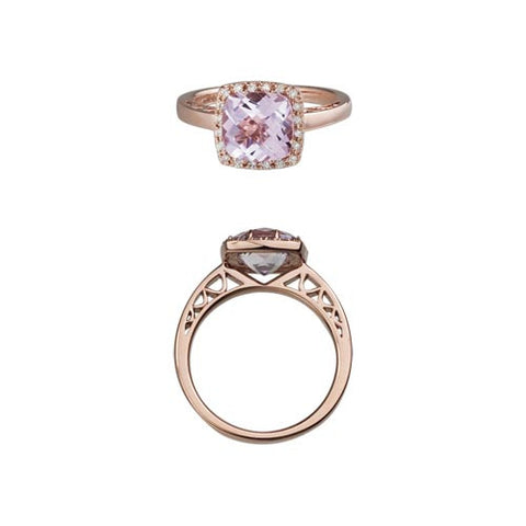 Pink Amethyst In Rose Gold