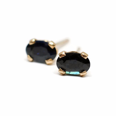 Oval Sapphire Stud Earrings