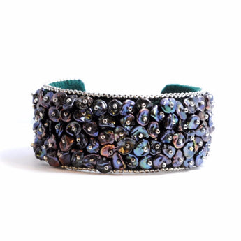 Pearl Embroidered Cuff Bracelet by Samantha Taylor