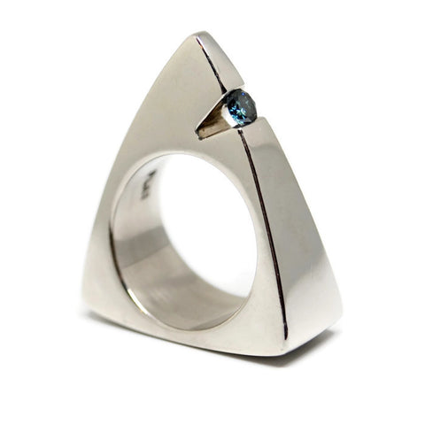 Platinum Triangle Ring by Dwaine Ferguson