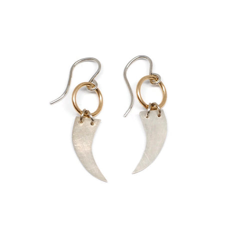 Sterling Silver Talon Dangle Earrings by Heather Kita