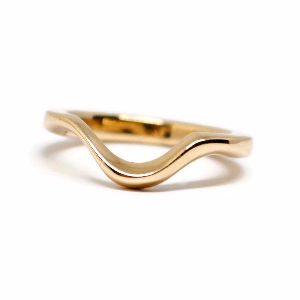 Curve Ring in 14k Yellow Gold by Dwaine Ferguson