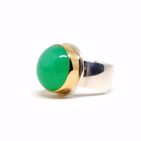 Chrysoprase Ring by Linda Blumel