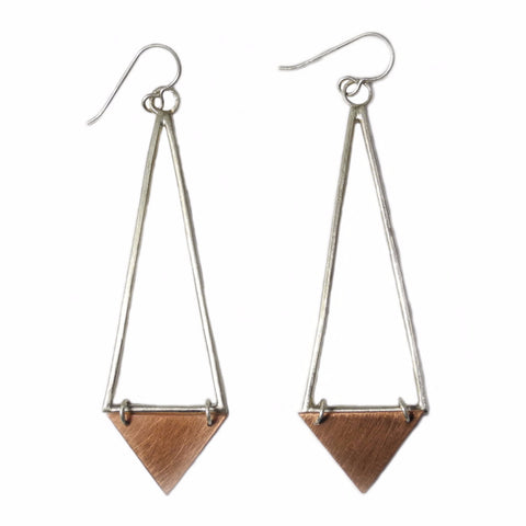 Sterling and Copper Dangles