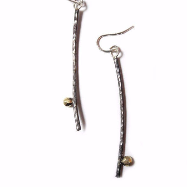 Hammered Sticks Earrings