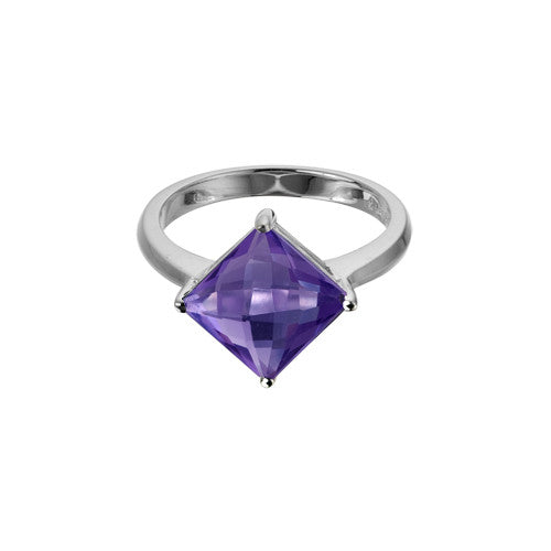 Amethyst In Sterling Ring