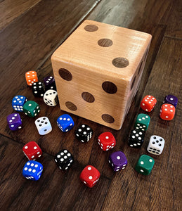Large Handcrafted Wooden Dice