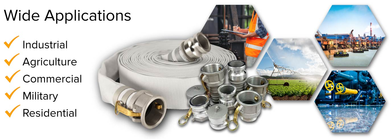 1 inch camlock discharge hoses collection header image