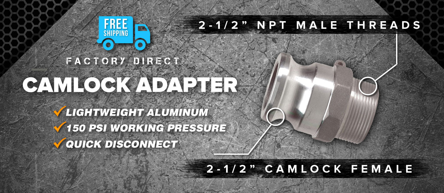2.5 inch camlock male to npt adapter