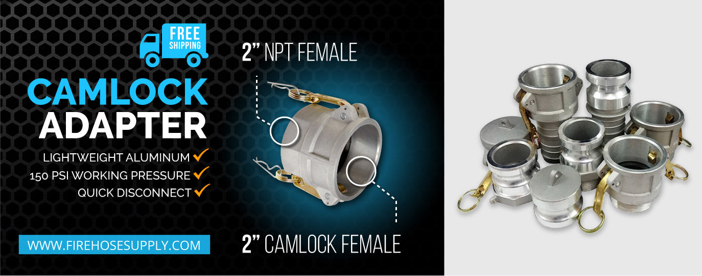 2 inch female camlock to 2 inch female npt fitting