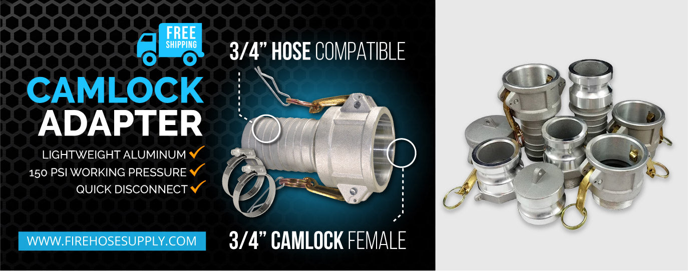 3-4 inch female camlock clamp coupling