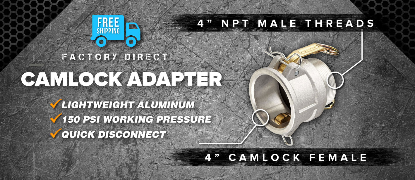 4 inch camlock female to 4 inch npt male adapter