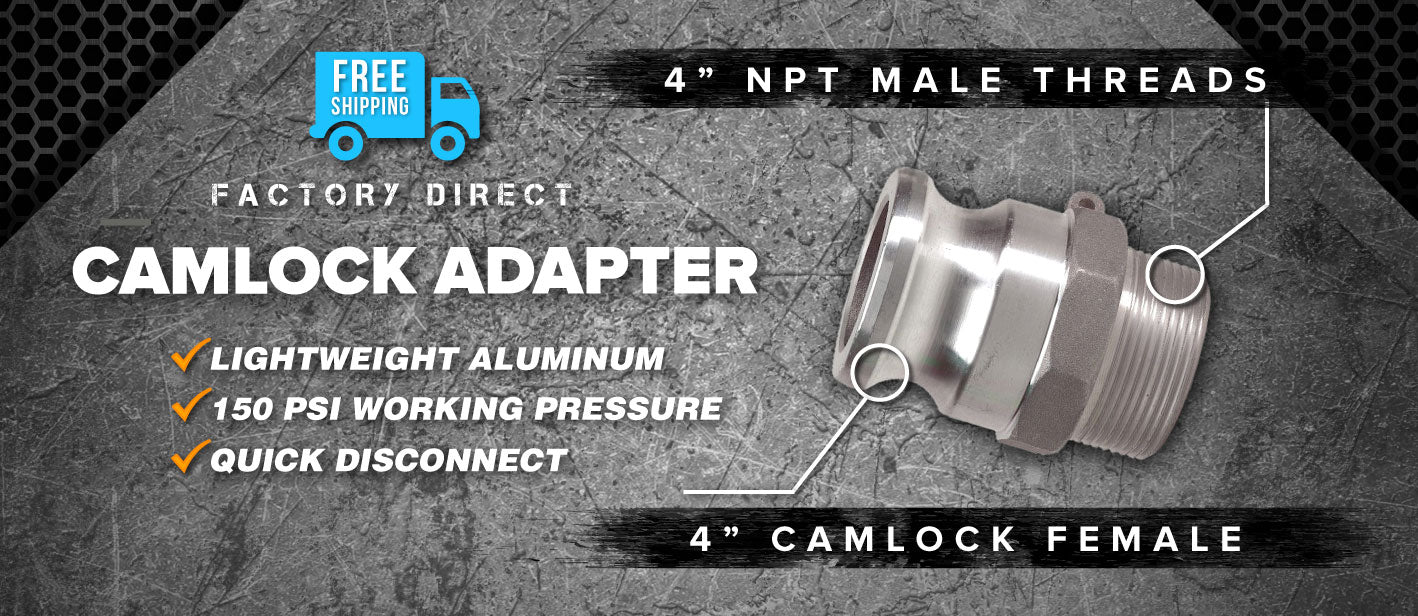 4 inch camlock male to 4 inch npt male adapter