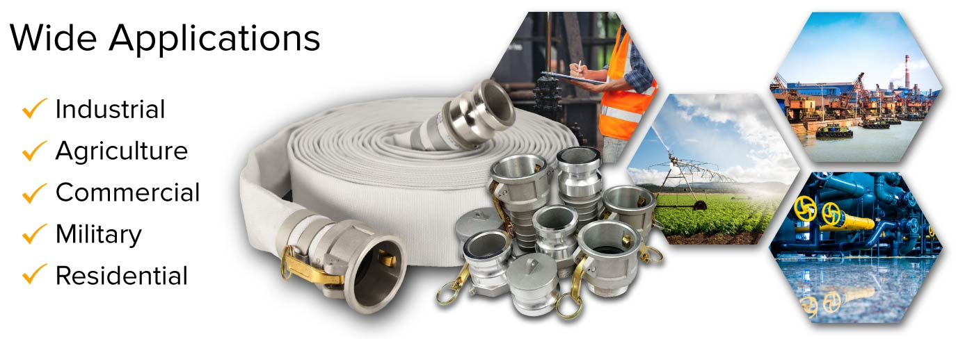 4 inch large diameter camlock hoses collection header image infographic