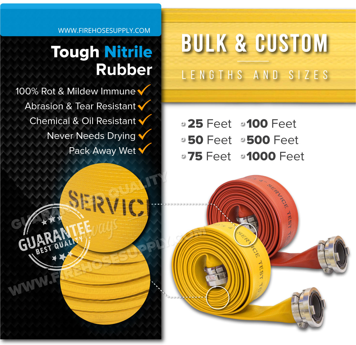 5 Inch Fire Hose Rubber Durable Nitrile Material
