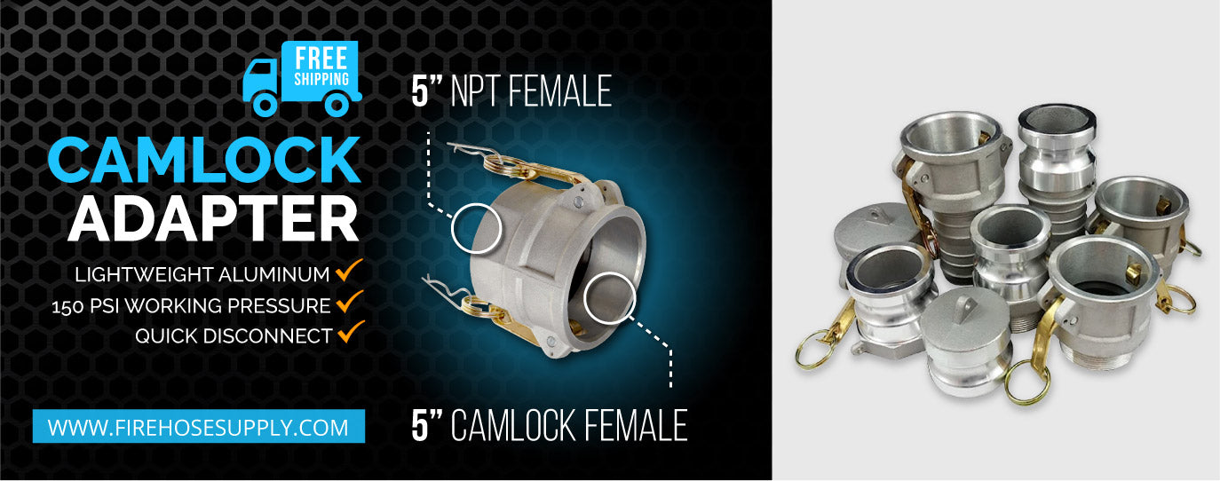 5 inch female camlock to 5 inch npt female fitting