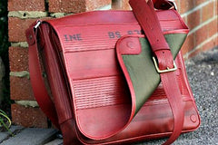 Beautiful Bag made with used fire hoses