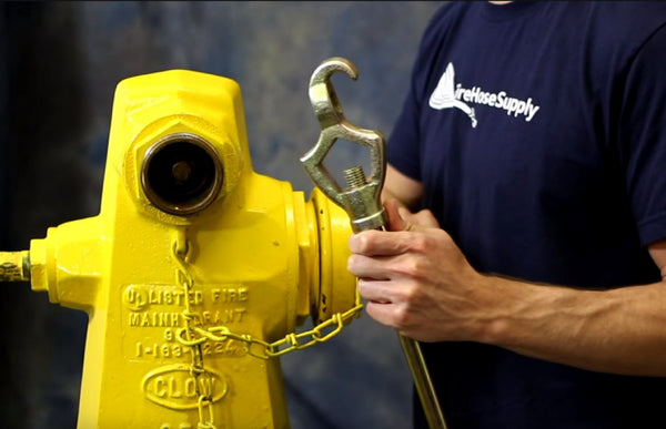 fire hydrant cap with wrench