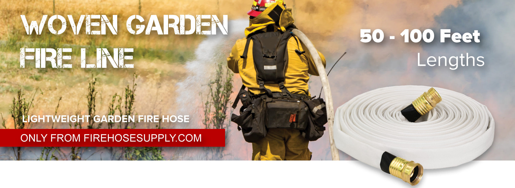 White Garden Fire Hose