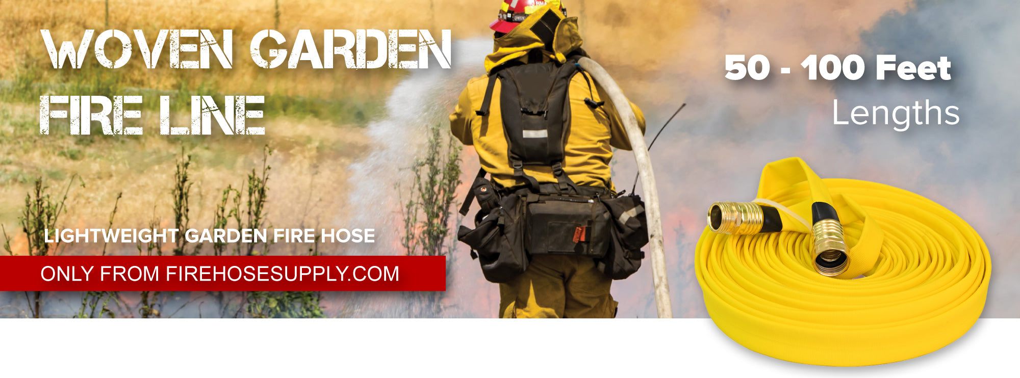 Yellow Garden Fire Hose