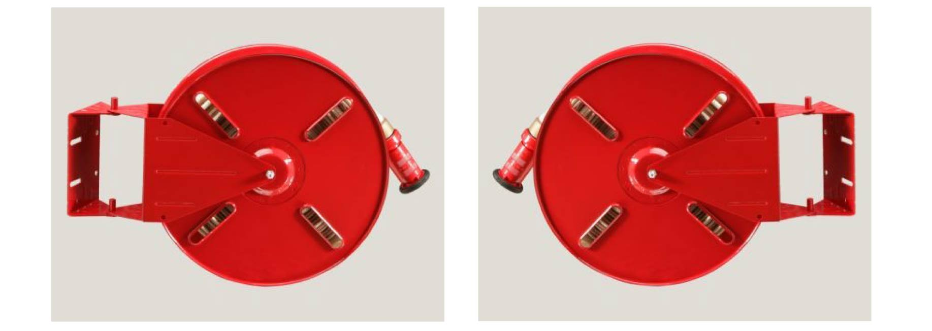 Fire Hose With Reel And Nozzle